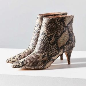 Urban Outfitters Faux Snake Skin Booties